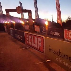finish line at night