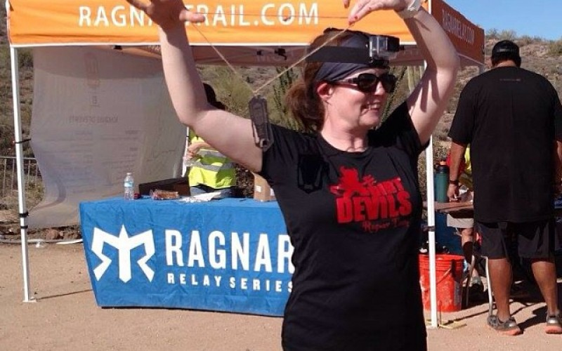 Fit4Life's Jan Rice at Ragnar Trail Relay 2015, McDowell Mountain, Arizona