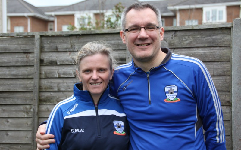 ***Fit4Life's Sinead and Rob Webb at The Fat Turkey Run, Howth, 28th January***