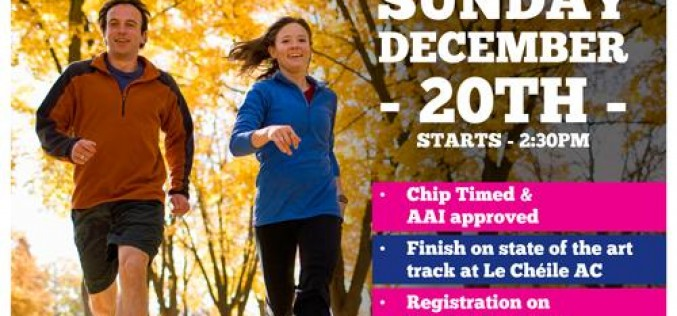Kildare Open 5k  – Sunday 20th December