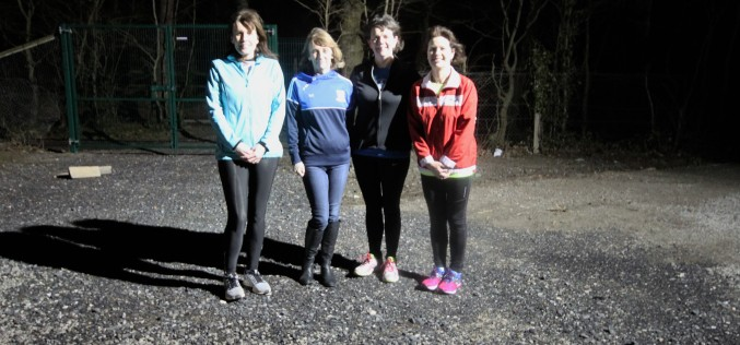 Our Raheny 5 Milers celebrating with our GOLD winning ladies' team at Tuesday night's training session.