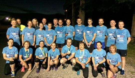 Just some of our Dublin Half Marathon brigade