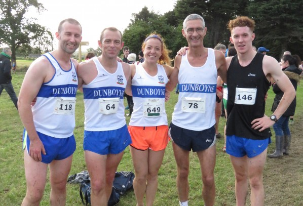 Dunboyne AC athletes in action at the AAI Autumn Open Cross Country Festival, Abbotstown, Sunday 16th October 2016
