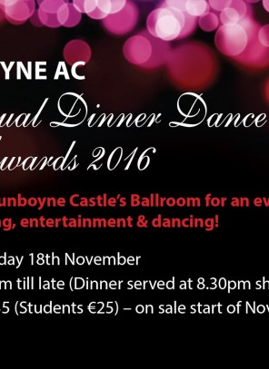Dinner Dance and Awards 2016 – save the date!