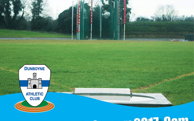 Timetable and link for Entry to Dunboyne AC Winter Throws Meet – February 11th 2017