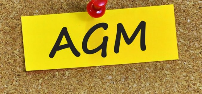 AGM Notice: January 26th