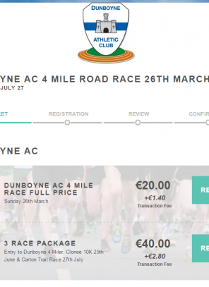 Entries Open for the #dunboyne4mile PLUS new 3 Race Package