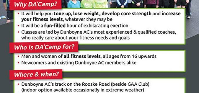 *** DA'Camp – New 10 week circuits based fitness course, starting Saturday 22nd April ***