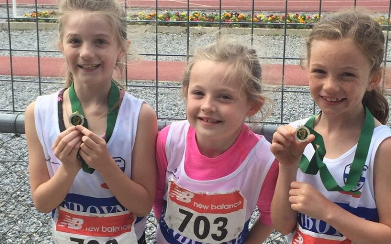 Dunboyne AC Juveniles at the Leinster U9-U11 Pairs and U12 & U13 Individual Championships