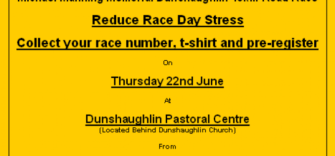 Dunshaughlin 10k race – Collection info
