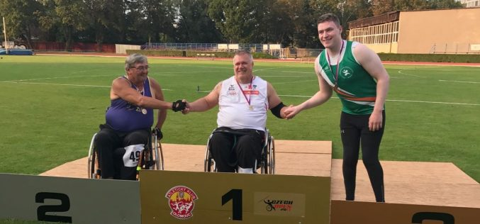 Sean Hughes finished up his season on a high, competing in a paralympic Grand Prix event in the Czech Republic