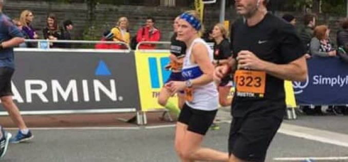 Annette Conroy at the Bristol Half Marathon