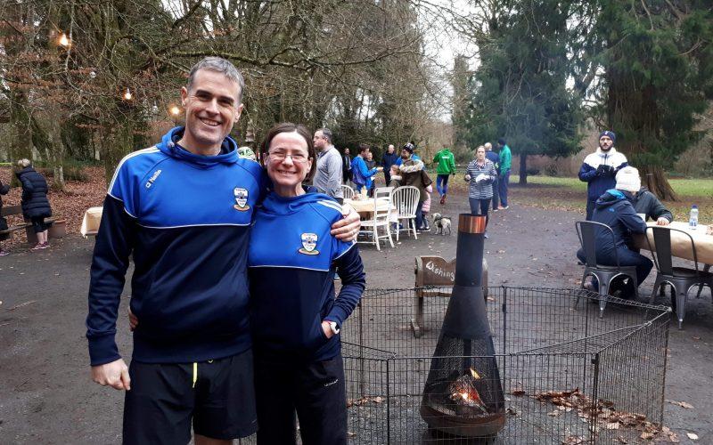 Sam amd Geoff Hamilton @ Kildare Half Marathon, Donadea Forest Park