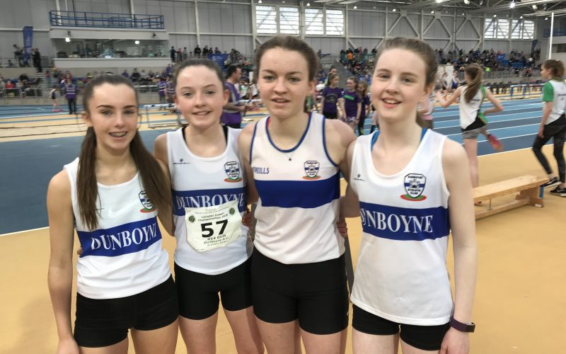 Day 3 of the Leinster Indoor Championships was the day for our juvenile and fit for youth athletes to compete in relays.
