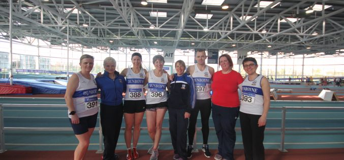 Top class performances for Dunboyne AC at the National Indoor Masters Championships, 10/3/2018