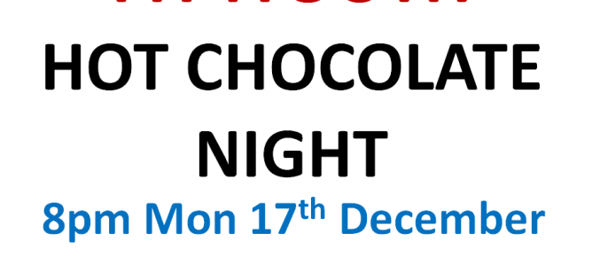 Fit4Youth Hot Chocolate Night
