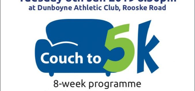 Couch to 5k 2019 – Register on Tuesday Jan 8th !
