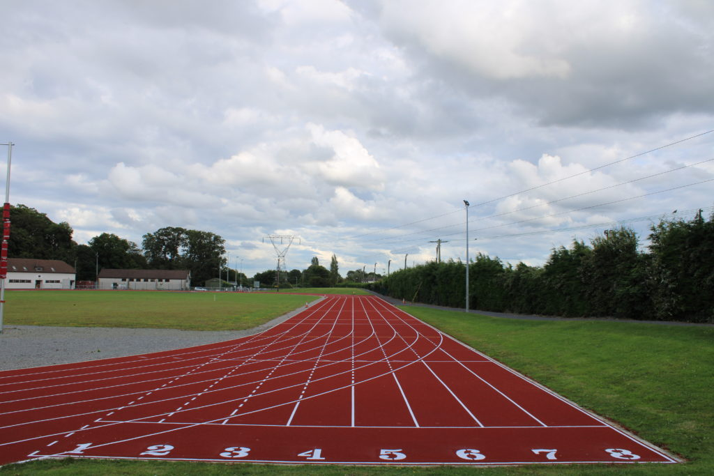 DAC, 8 lane synthetic track surface finally ready for use.