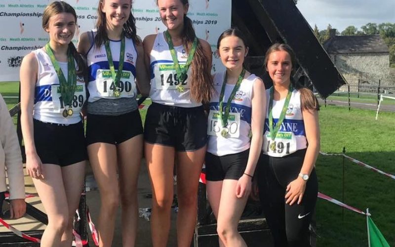 Competitive Middle Distance F4Y group at Meath Cross Country Championships 2019 – Oct 6th and 13th