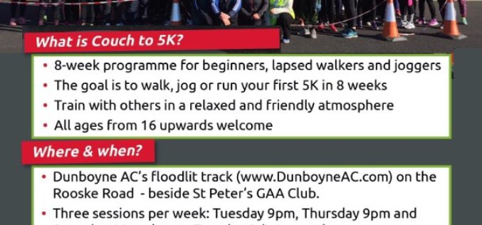 2020 Couch to 5K – Registration and Session 1 – Tue Jan 7th
