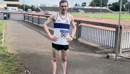 Dunboyne AC's Niall Cornyn at the National Senior 10k – Saturday August 29th